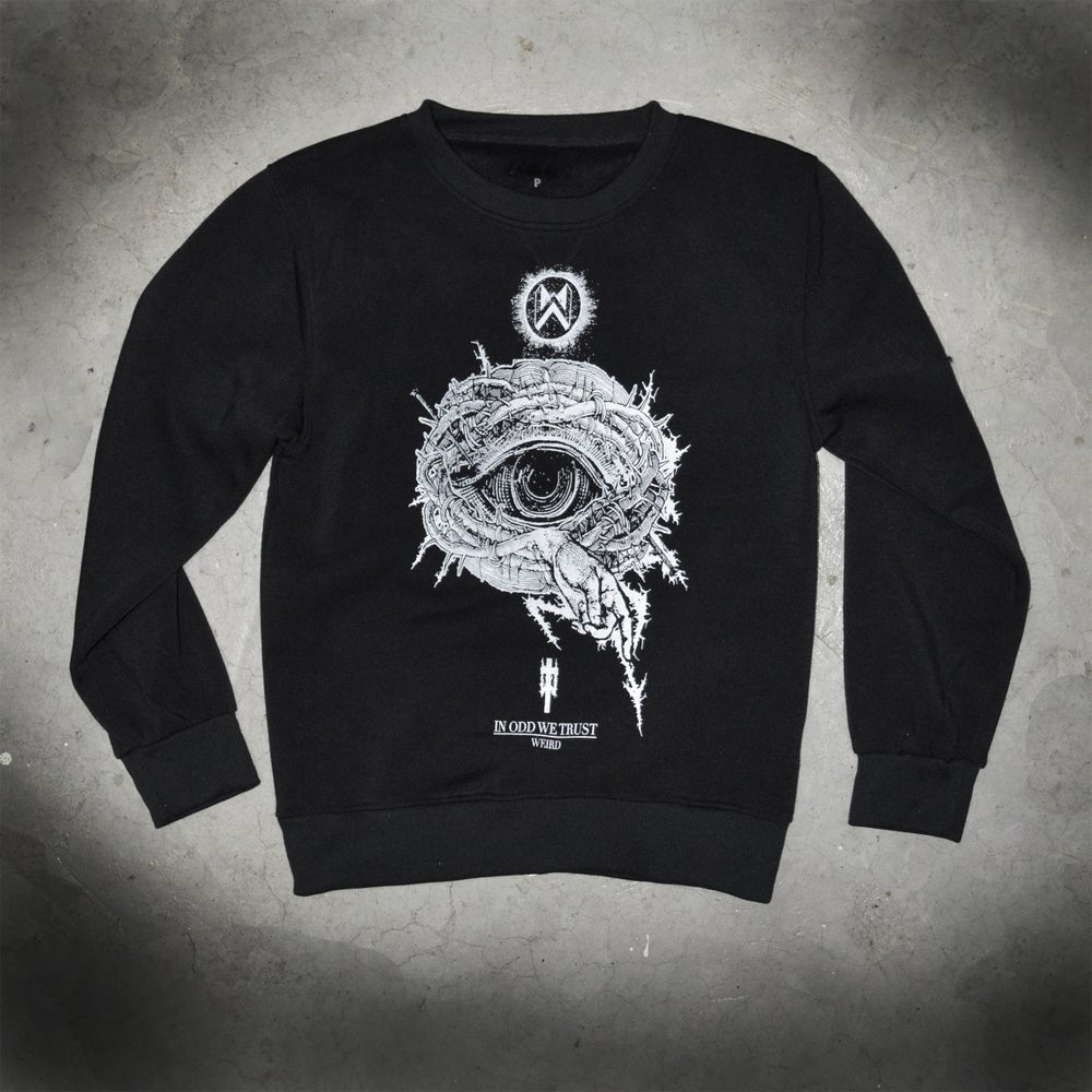 Image of IN ODD WE TRUST - black sweatshirt