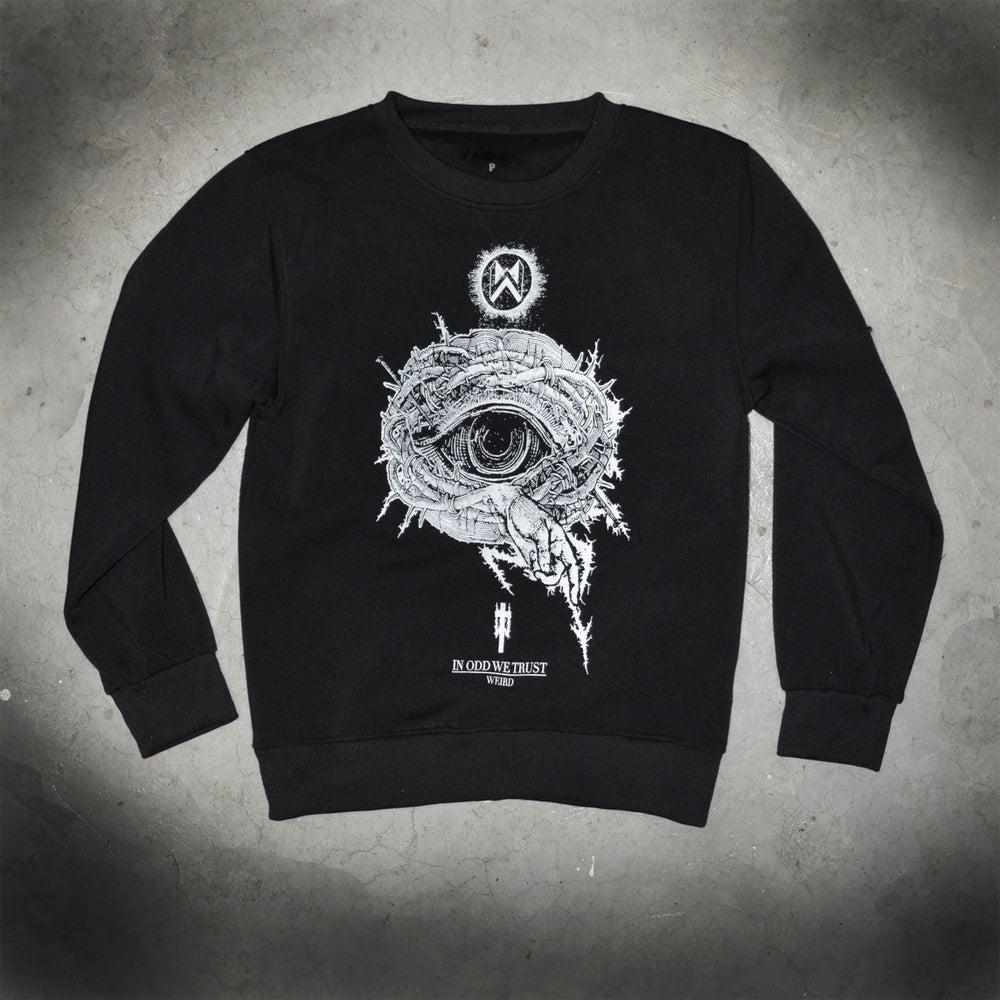 Image of IN ODD WE TRUST - black sweatshirt