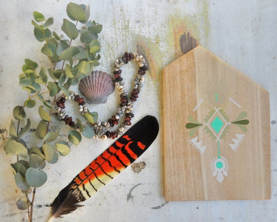 Image of Art #1 | Painting on Reclaimed Silver Quandong Timber