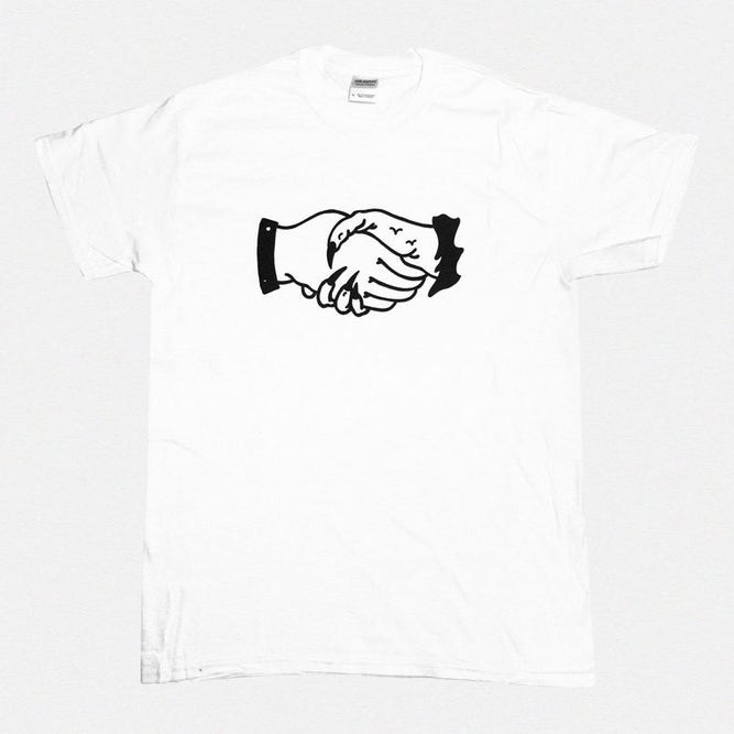 Image of ILK & KENO — WHITE HANDS TSHIRT
