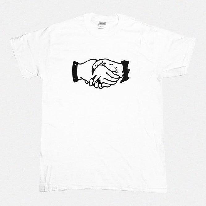 Image of ILK & KENO — WHITE HANDS TSHIRT