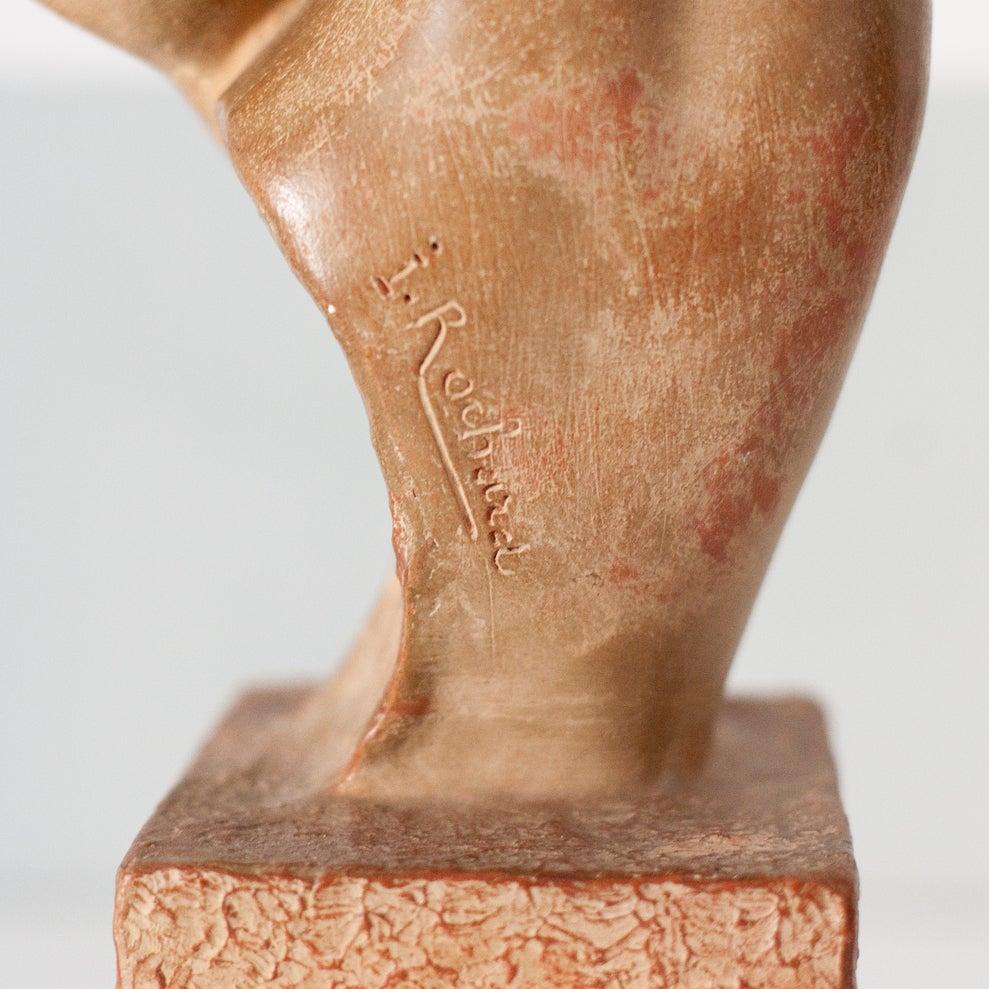 Image of Ciervos de terracota de Irenee Rochard / años 30 / Francia