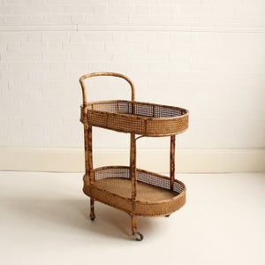 Image of Rattan drinks trolley