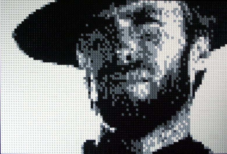 "Image of Custom LEGO Mosaic - Clint Eastwood, 30""x20"""