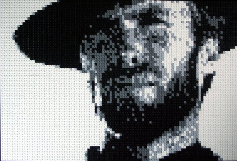 "Image of Custom LEGO Mosaic - Clint Eastwood, 30""x20"""