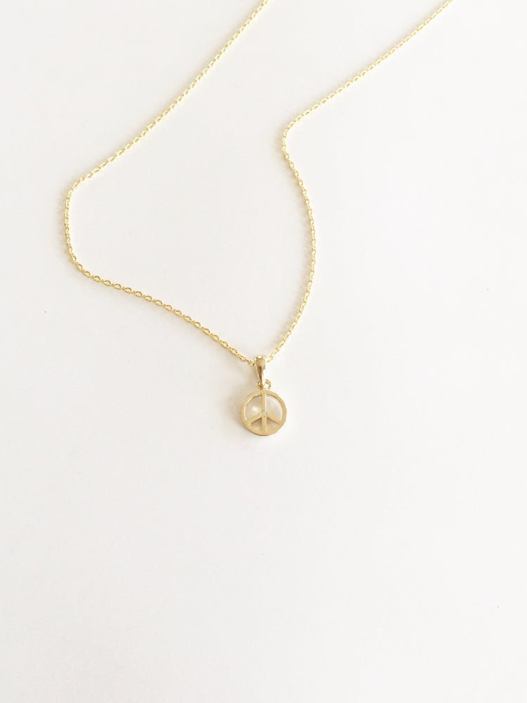 Image of Peace Sign Necklace