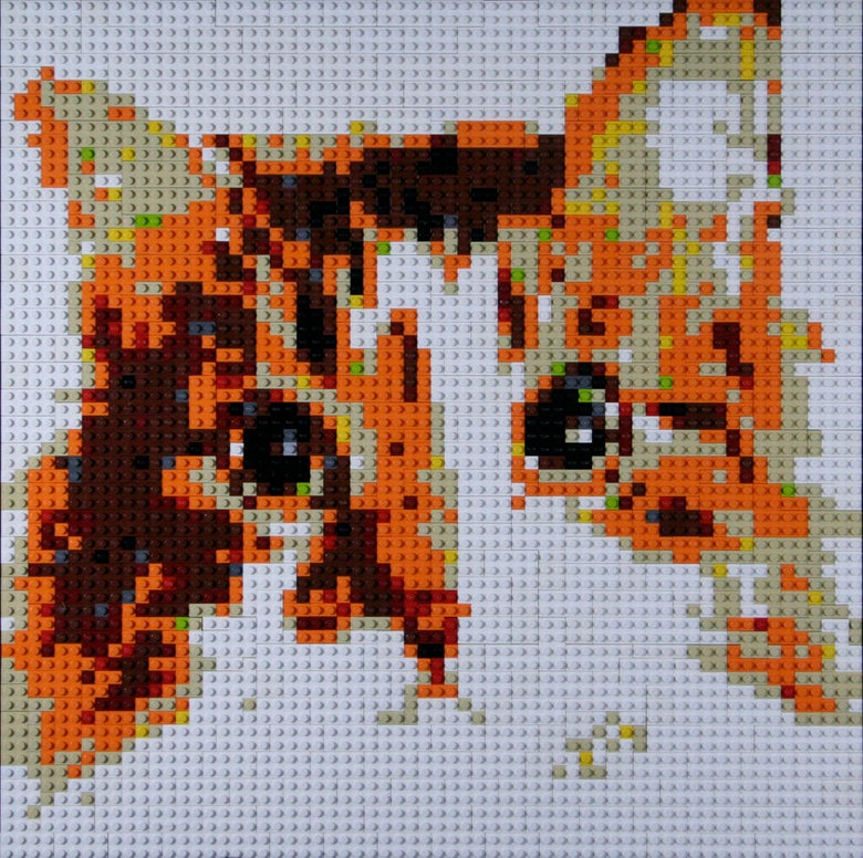 "Image of Custom LEGO Mosaic - Cat, 20""x20"""