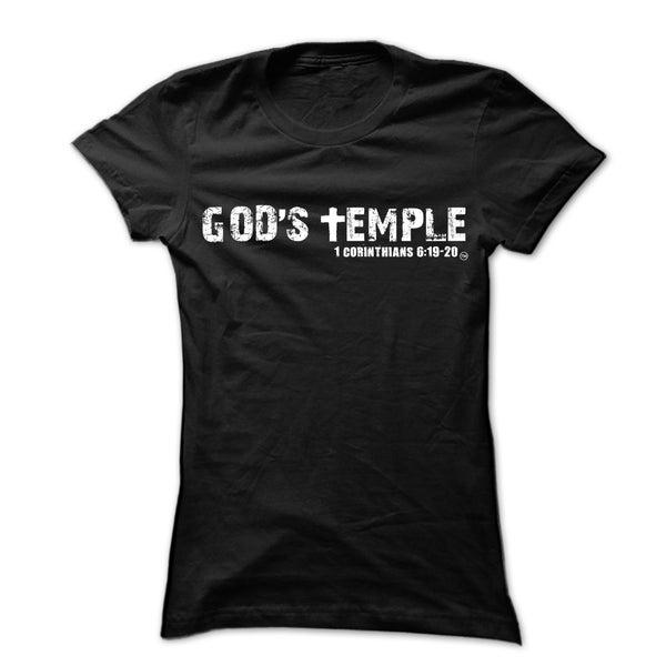 """Image of Black """"God's Temple"""" Unisex Tee"""