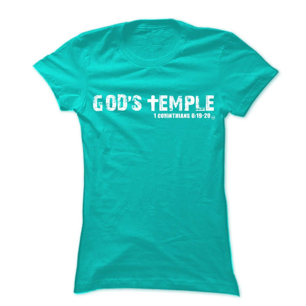 "Image of Teal ""God's Temple"" Unisex Tee"