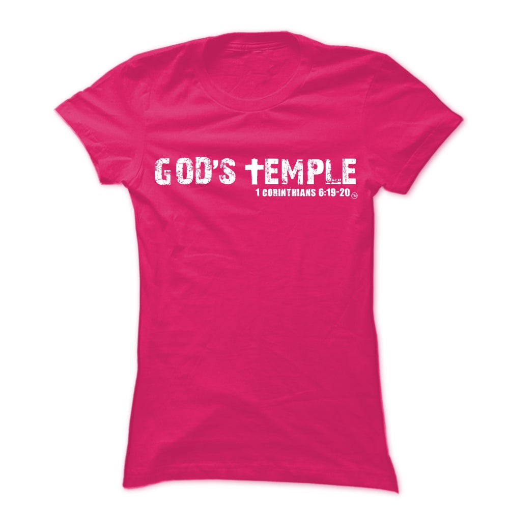 """Image of Pink """"God's Temple"""" Unisex Tee"""
