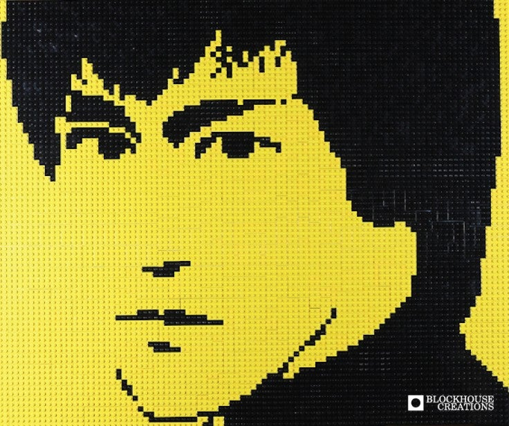 "Image of Custom LEGO Mosaic - Bruce Lee, 30""x25"""