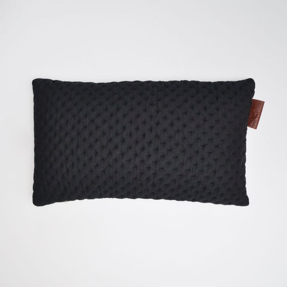 Image of Kumo cushion Cover - Black Rectanglular