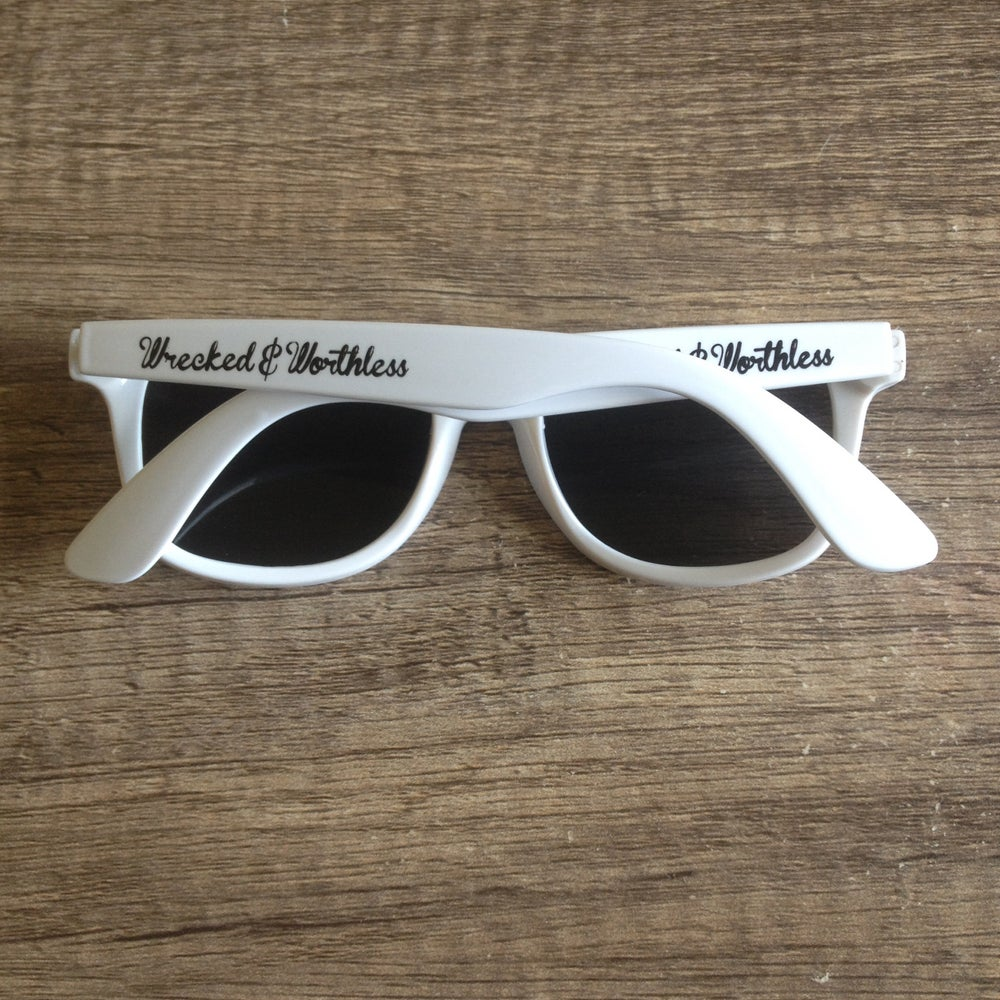 Image of White Wayfarer Sunglasses