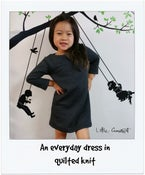 Image of Everyday quilted knit dress