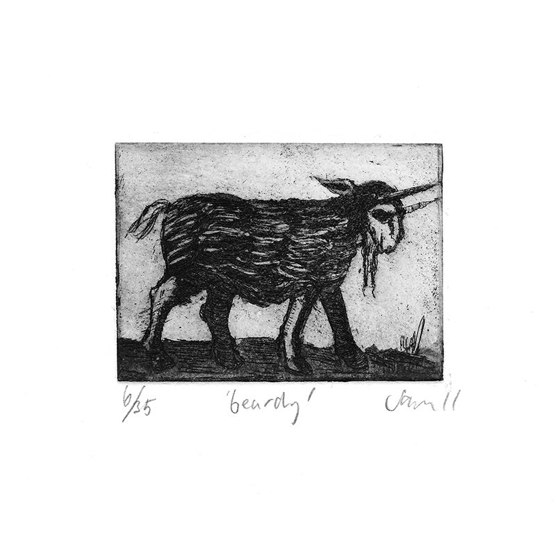 Image of 'Beardy' - etching