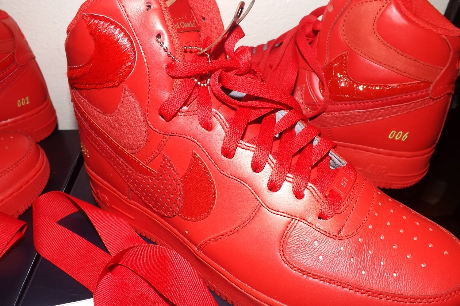 """Image of John Geiger's """"Misplaced Checks"""" Nike Air Force 1 High SIZE  10.5 """" 2 OF 60"""""""