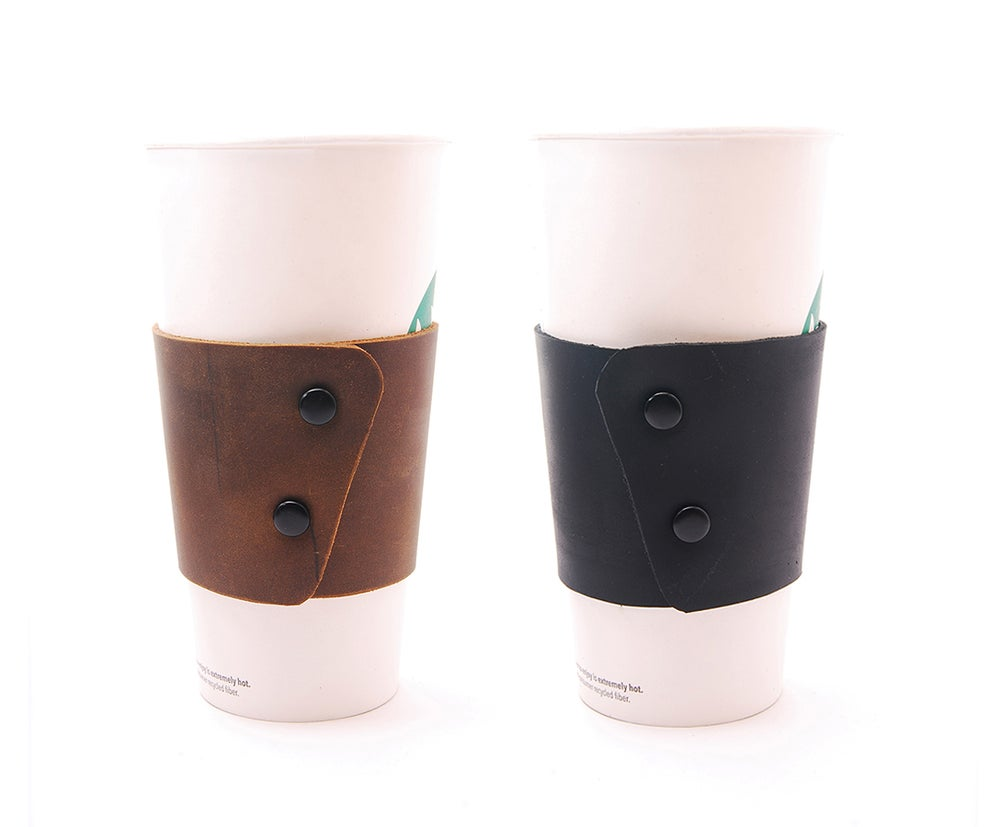 Image of Reusable Coffee Cup Sleeve with Snaps