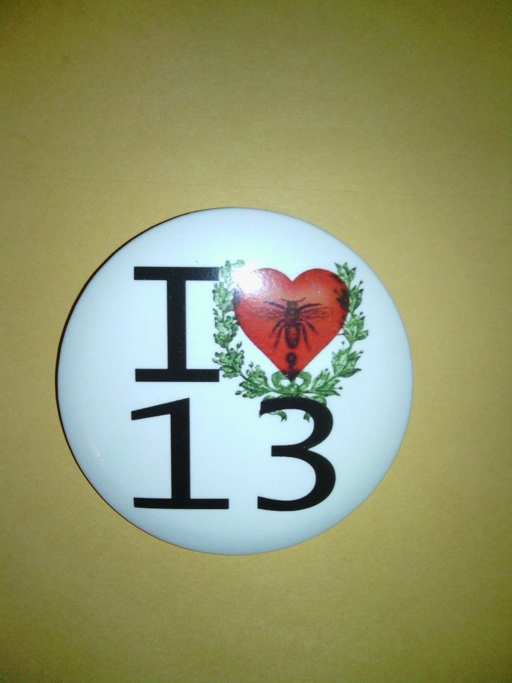 Image of TLC 13 Love Community Private Public Logo Magnetic Button