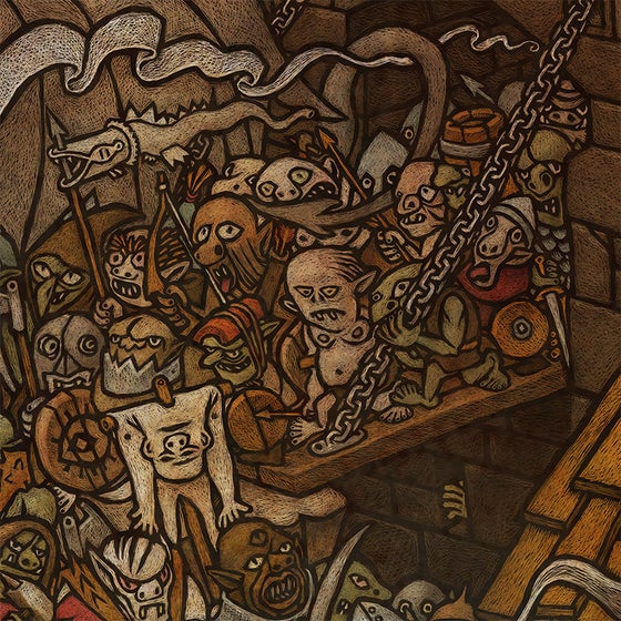 Image of The Gates of Minas Morgul / Las puertas de Minas Morgul