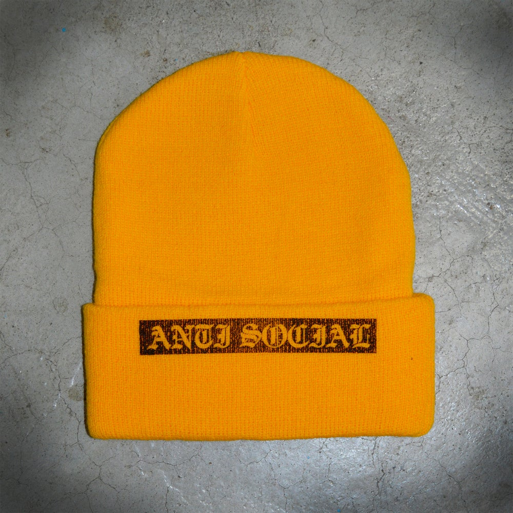 Image of BEANIE - Anti social - Yellow
