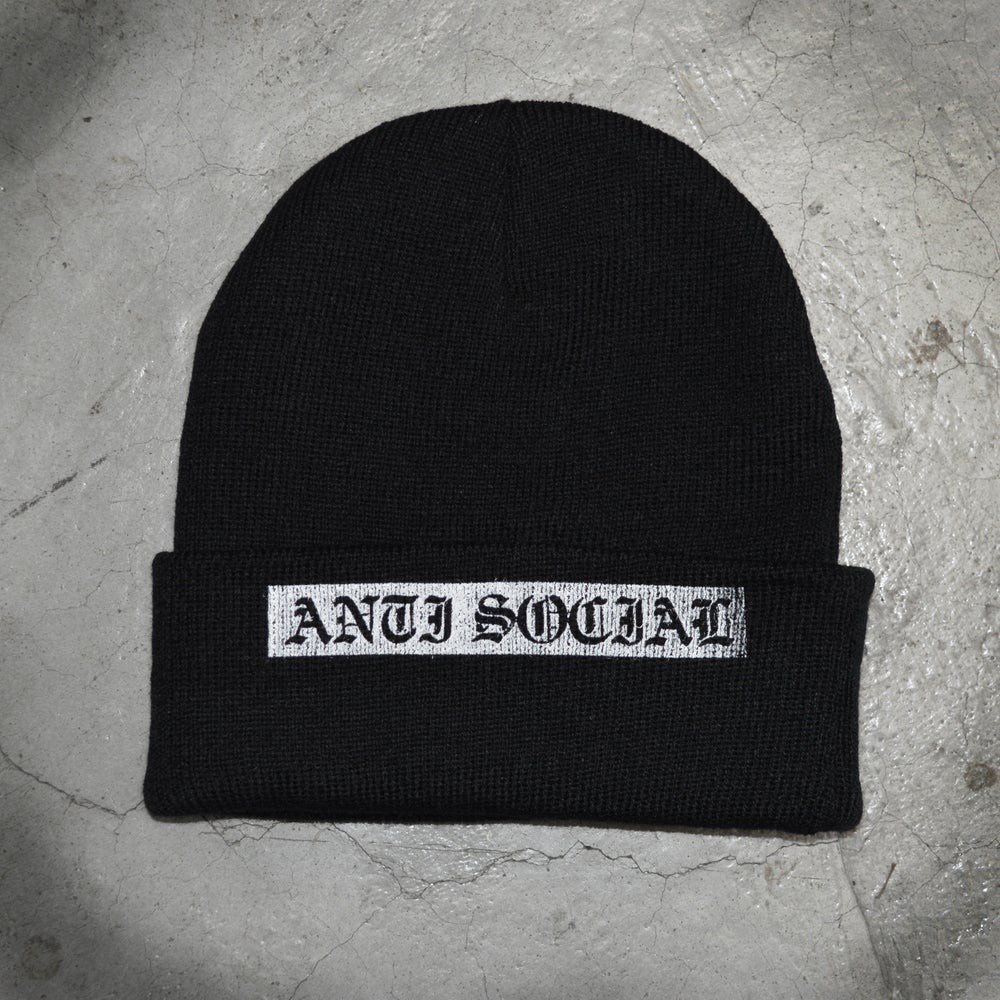 Image of BEANIE_Anti Social - Black