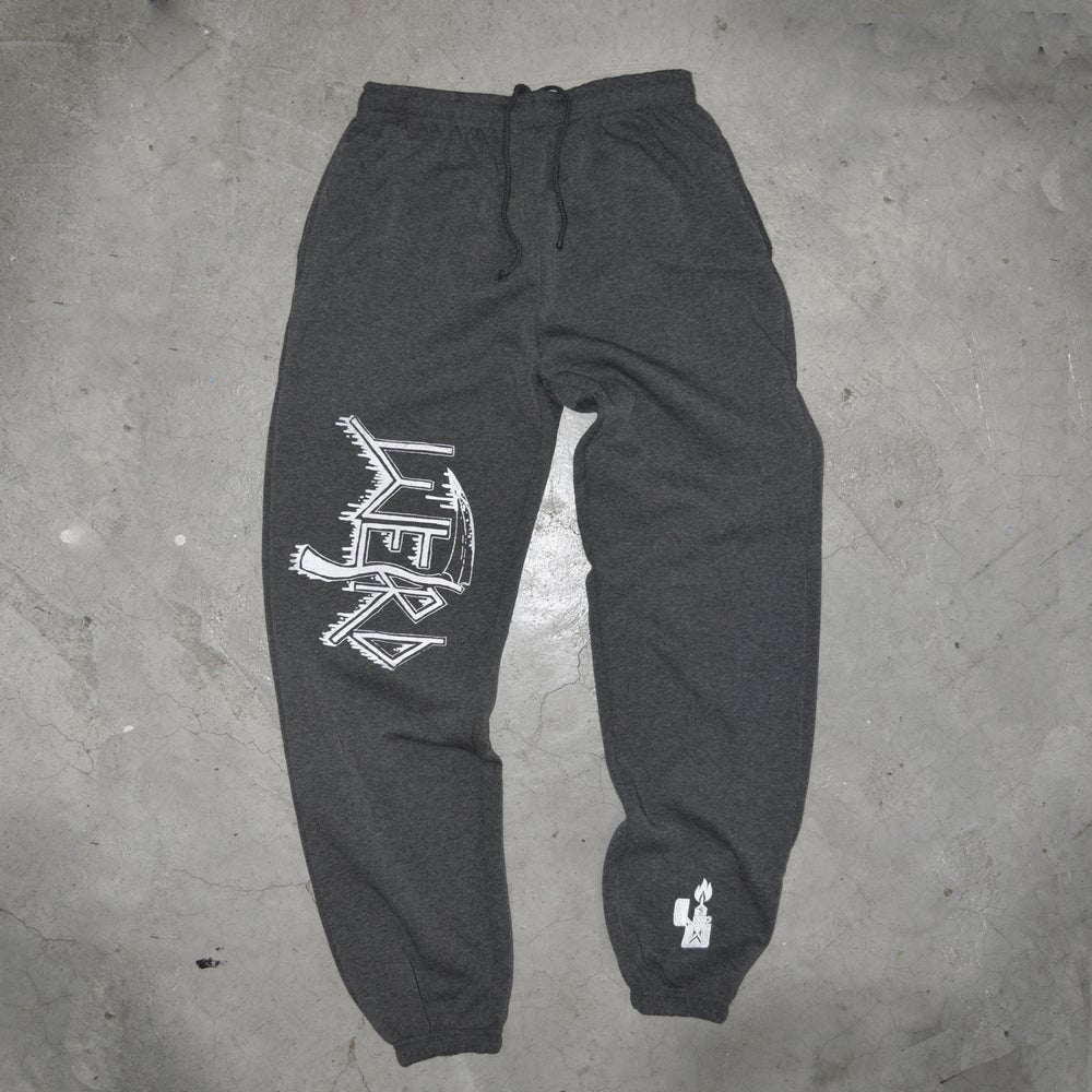 Image of DEATH_ burgundy sweatpants