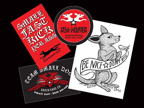 Image of teamsmalldog sticker pack