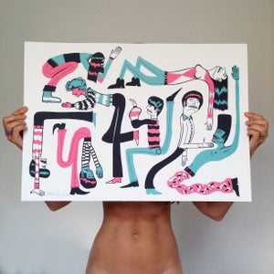 Image of DANCE LIFE LIMITED EDITION  A2 ART INDIGO PRINT