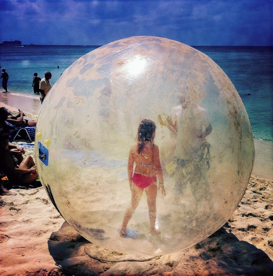 Image of Bubble Girl, Grand Cayman Islands, 2011