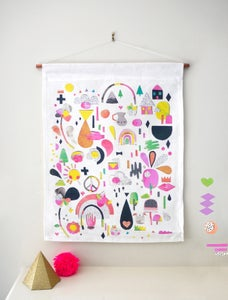 Image of 'Saturdays' Linen Wall Hanging