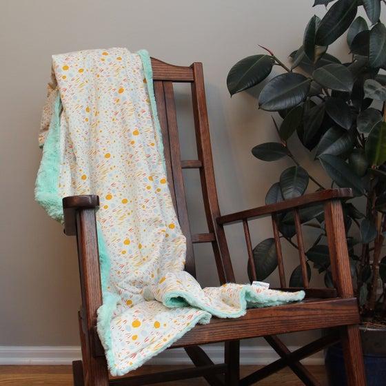 Image of Windswept Lota Sun Throw Blanket