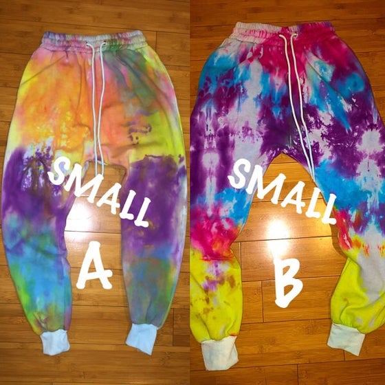 Image of TieDye Drop Crotch Joggers