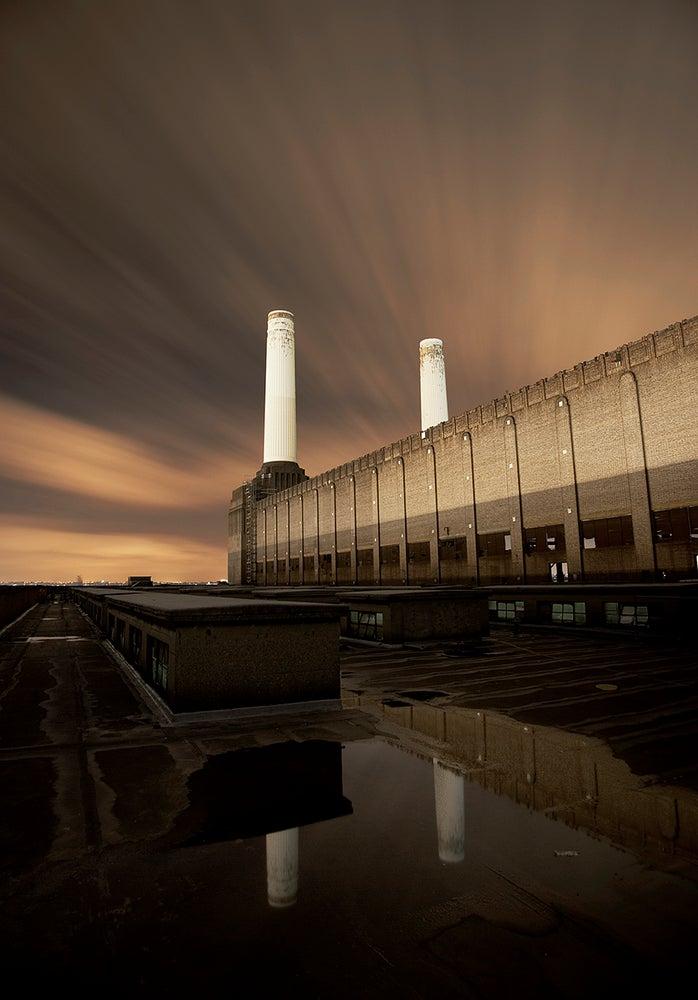 Image of Battersea at night