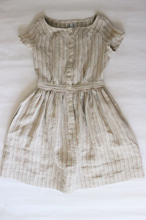 Image of Striped Linen Seaside Dress