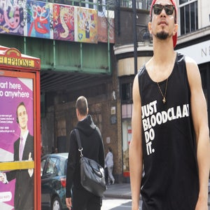 Image of JUST BLOODCLAAT DO IT TANK TOP - BLACK