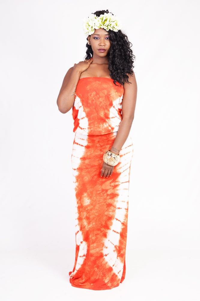 Image of DO OR TIE-DYE MAXI DRESS