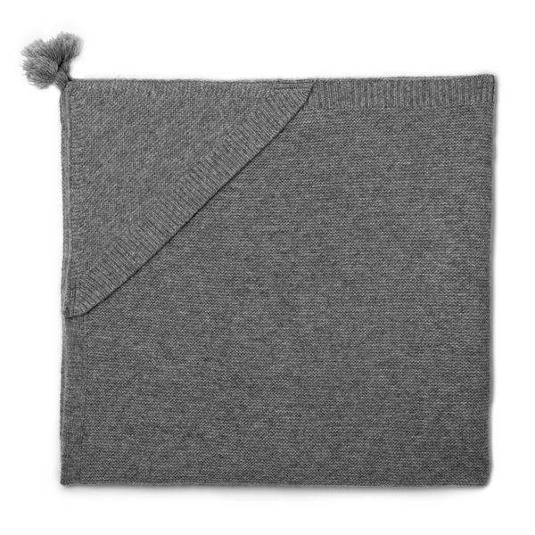 Couverture bébé cachemire Oscar gris chiné - Maison Brunet Paris