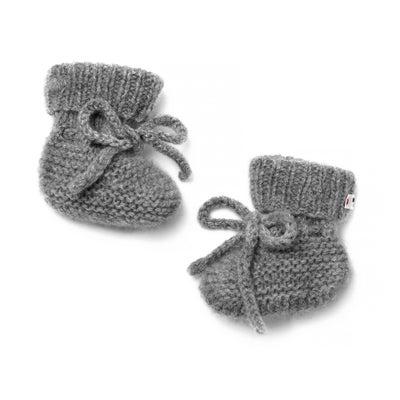 Chaussons bébé cachemire Joseph gris chiné - Maison Brunet Paris