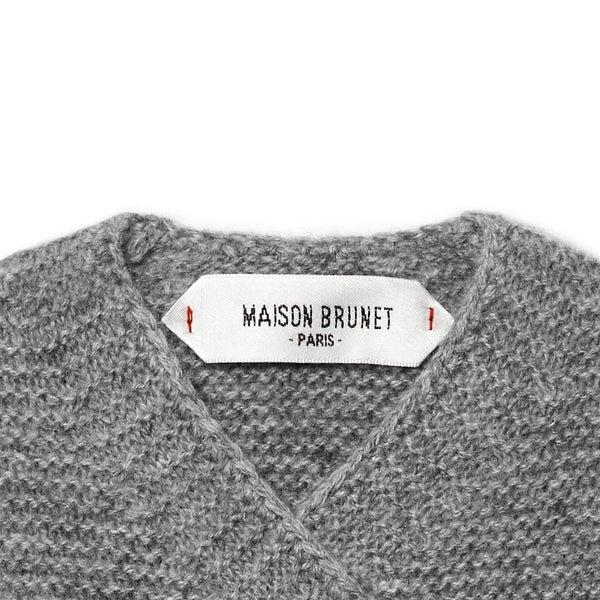 Cache-cœur bébé cachemire Sacha gris chiné - Maison Brunet Paris