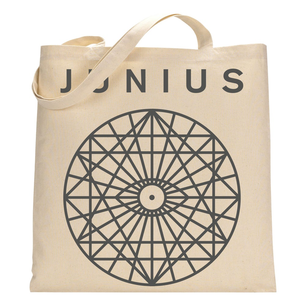Image of Mandala Canvas Tote Bag | Grey/Natural