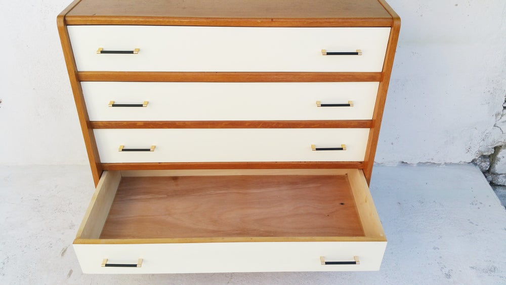 Image of Commode 4 tiroirs en bois - vintage