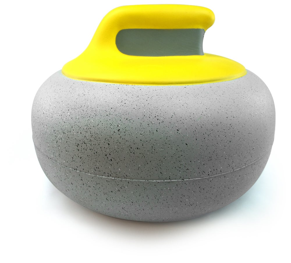 Image of Yellow Handle Foam Curling Hat