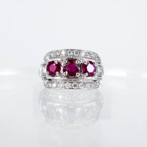 Image of  Art Deco design Ruby ring