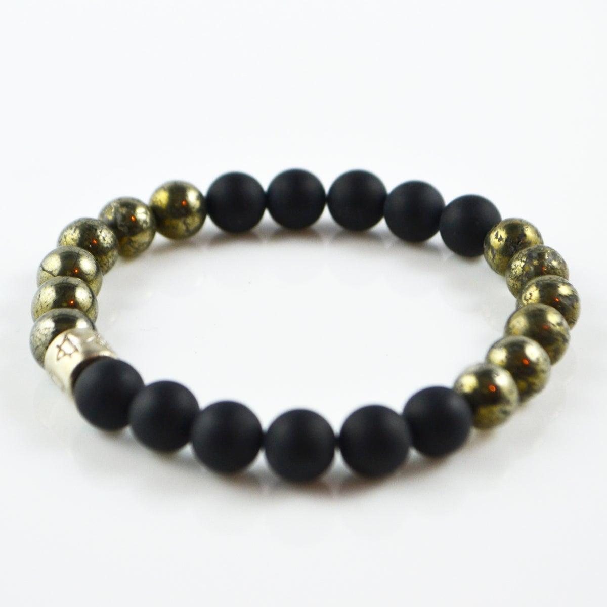 Image of Black Onyx and Pyrite Bracelet