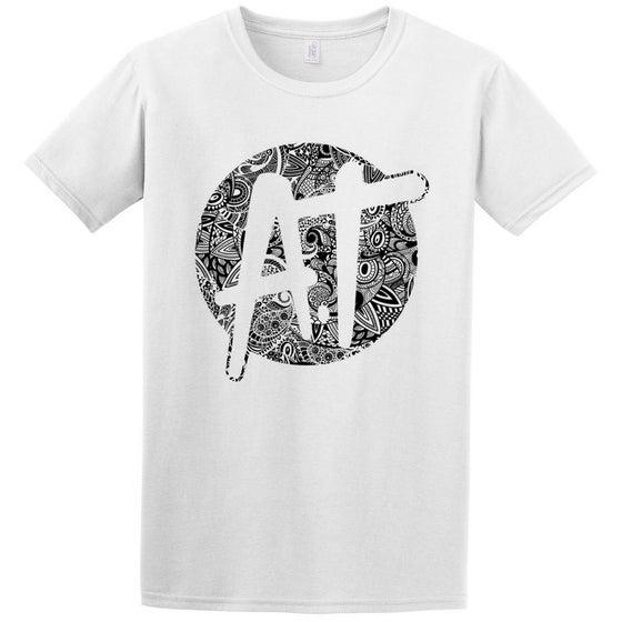 Image of White AT paisley logo t-shirt