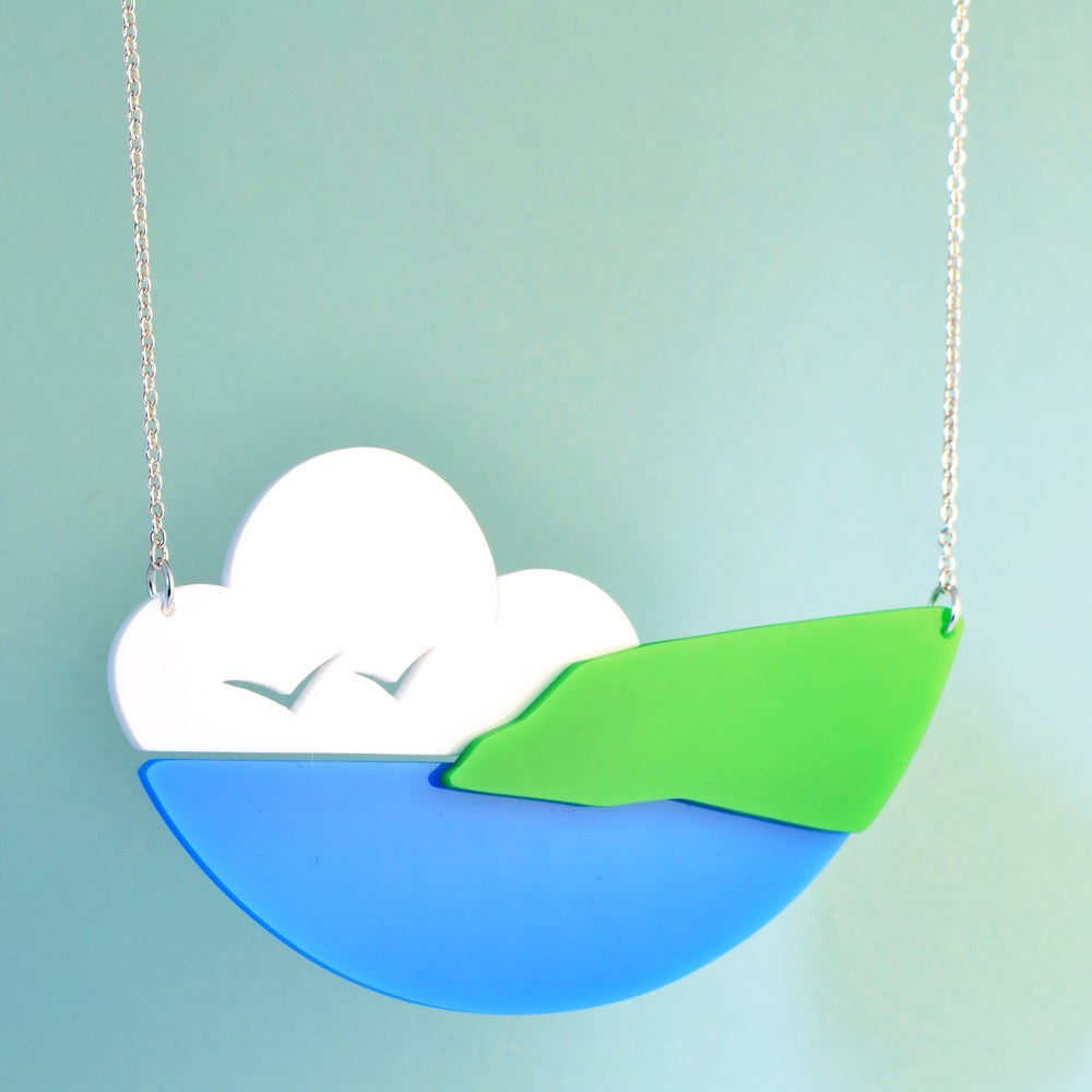 Image of Seagulls by the Shore necklace