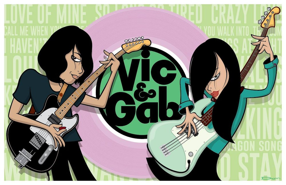 Image of Vic + Gab Love of Mine Poster