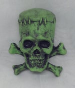 "Image of ""Frankenskull"" magnet- painted"