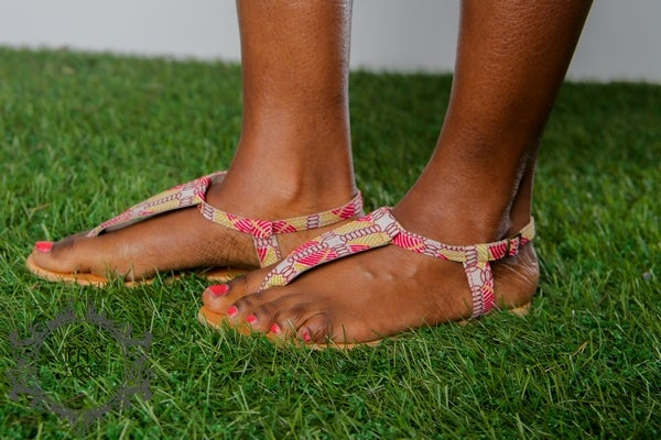 Image of FOLA AFRICAN PRINT SANDALS