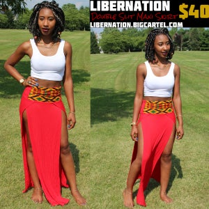 Image of LiberNation Red Slit Skirt